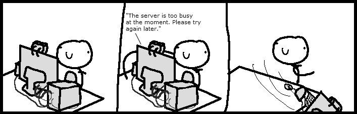 Server is too Busy